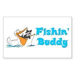 Fishing Buddy Rectangle Sticker