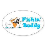 Fishing Buddy Oval Sticker