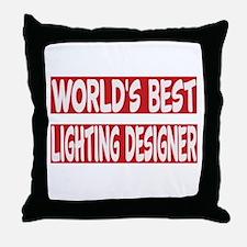 World's Best Lighting designer Throw Pillow