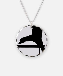 hurdler.eps Necklace Circle Charm