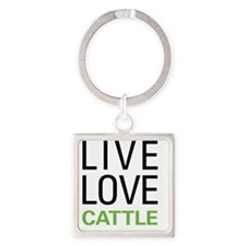 livecattle Square Keychain
