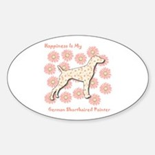 Pointer Happiness Oval Decal