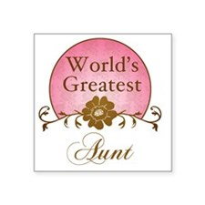"Sunrise_Aunt Square Sticker 3"" x 3"""