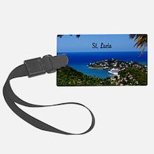 St Lucia 20x16 Luggage Tag