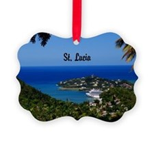 St Lucia 20x16 Ornament