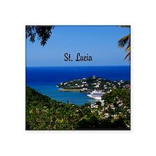 """St Lucia 20x16 Square Sticker 3"""" x 3"""""""