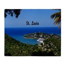 St Lucia 20x16 Throw Blanket