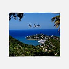 St Lucia 20x16 Throw Blanket