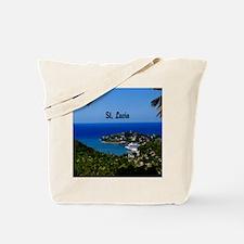 St Lucia 20x16 Tote Bag