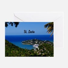 St Lucia 20x16 Greeting Card