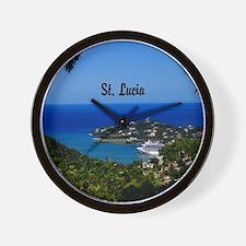 St Lucia 20x16 Wall Clock