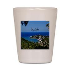 St Lucia 20x16 Shot Glass