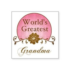 "Sunrise_Grandma Square Sticker 3"" x 3"""