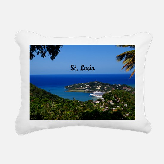 St Lucia 35x23 Rectangular Canvas Pillow