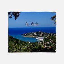 St Lucia 35x23 Throw Blanket