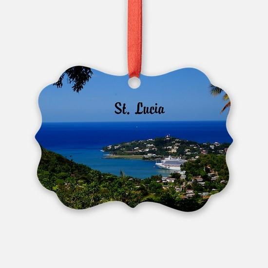 St Lucia 35x23 Ornament