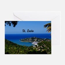St Lucia 35x23 Greeting Card