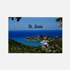 St Lucia 18x12 Rectangle Magnet