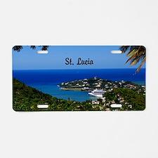 St Lucia 18x12 Aluminum License Plate