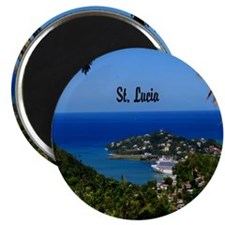 St Lucia 11x11 Magnet
