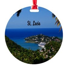St Lucia 11x11 Ornament