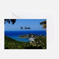 St Lucia 42x28 Greeting Card