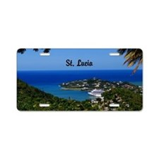 St Lucia 42x28 Aluminum License Plate
