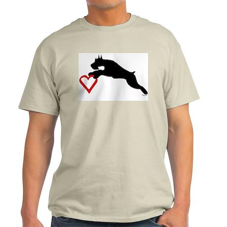 schnauzer valentine Ash Grey T-Shirt