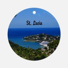 St Lucia 11.5x9 Round Ornament