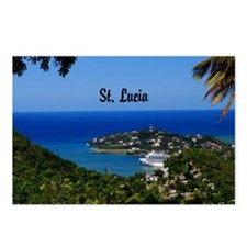 St Lucia 11.5x9 Postcards (Package of 8)