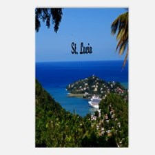 St Lucia 5.5x8.5 Postcards (Package of 8)