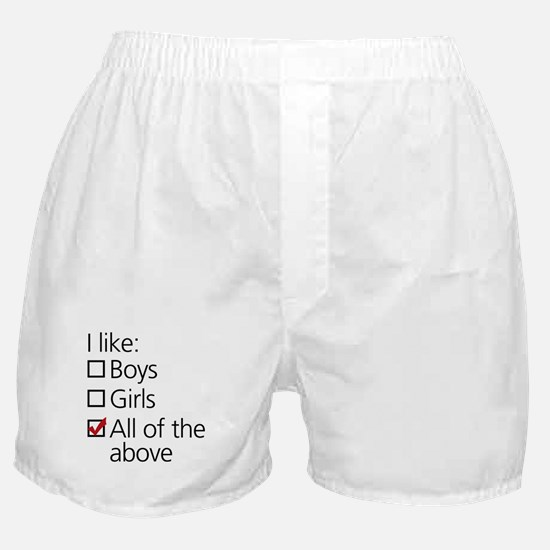 I Like Boys AND Girls Boxer Shorts