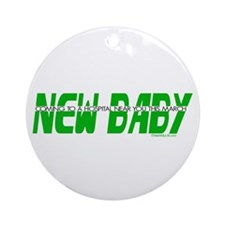 New Baby- March Ornament (Round)