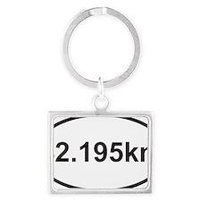 42195 km marathon Landscape Keychain