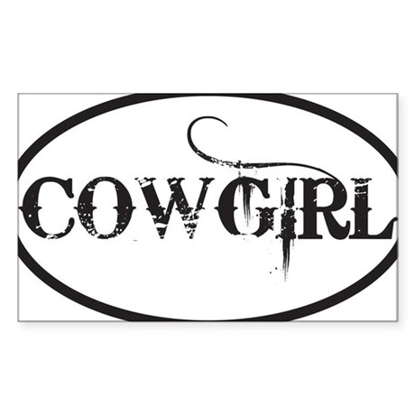 COWGIRL Sticker (Rectangle)