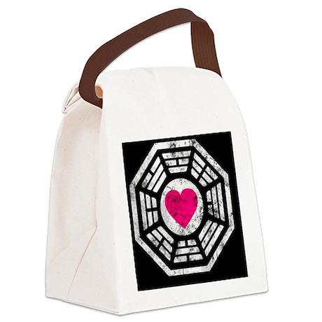 443 Dharma Heart Canvas Lunch Bag
