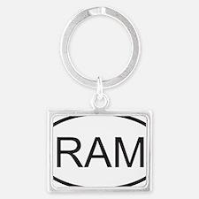 ram Landscape Keychain
