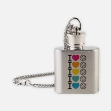 iheartvolleyball Flask Necklace