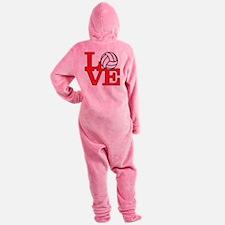 LoveVB-red Footed Pajamas