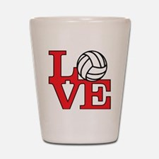LoveVB-red Shot Glass