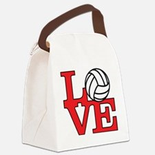 LoveVB-red Canvas Lunch Bag