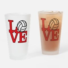LoveVB-red Drinking Glass