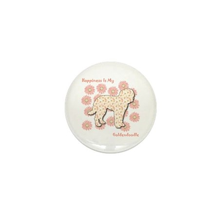 Goldendoodle Happiness Mini Button