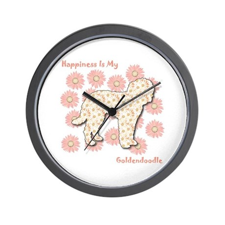 Goldendoodle Happiness Wall Clock
