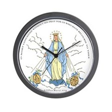 Mary Miraculous Medal Wall Clock