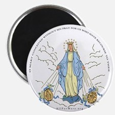 Mary Miraculous Medal Magnet