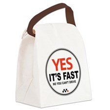 Copy of Yes Its Fast copy2 - Copy Canvas Lunch Bag
