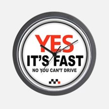 Copy of Yes Its Fast copy2 - Copy Wall Clock