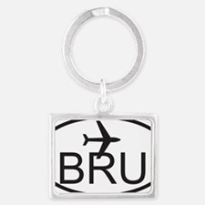 brussels airport Landscape Keychain
