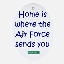 Home is... Air Force Sends You Oval Ornament